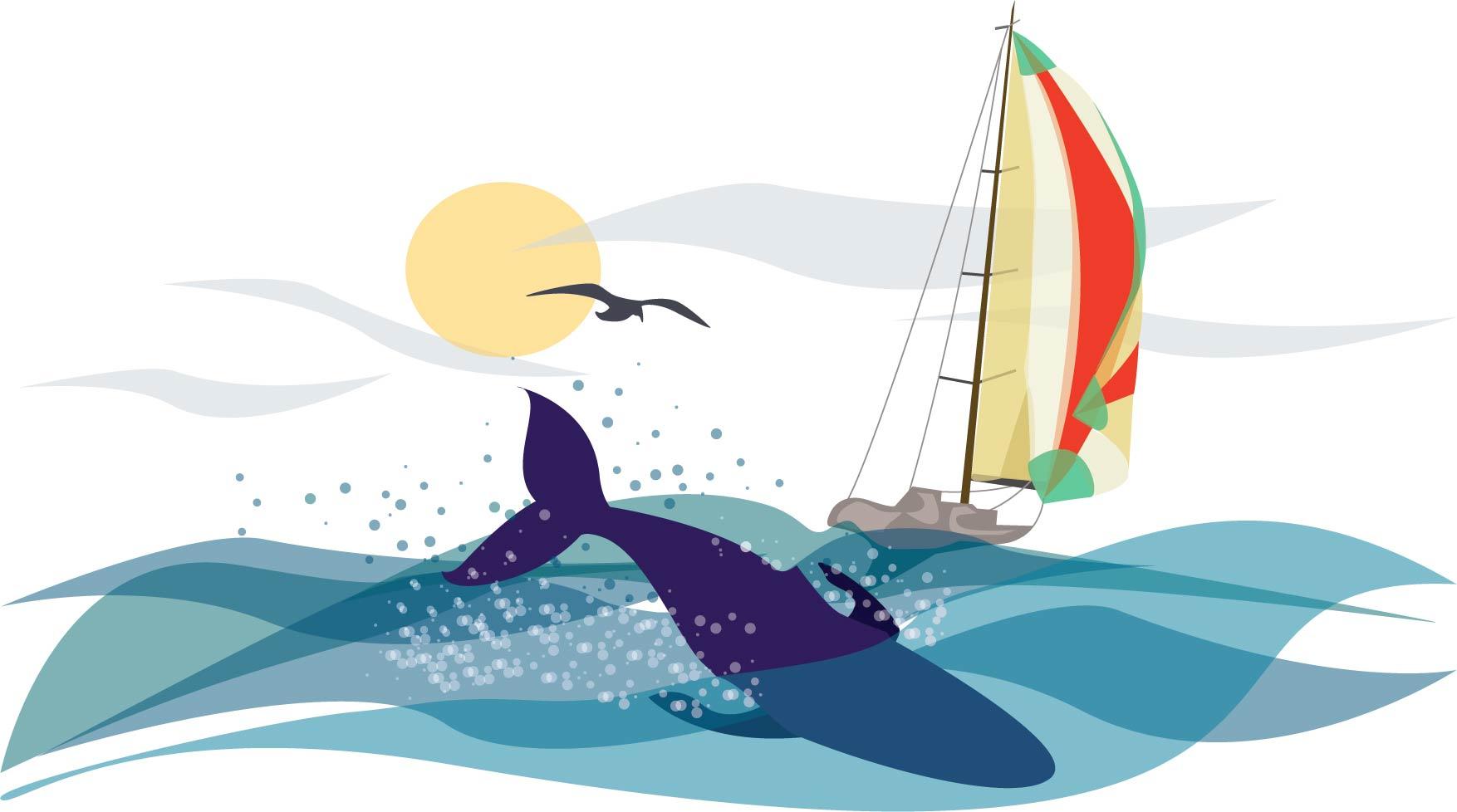 Whale & Sailboat
