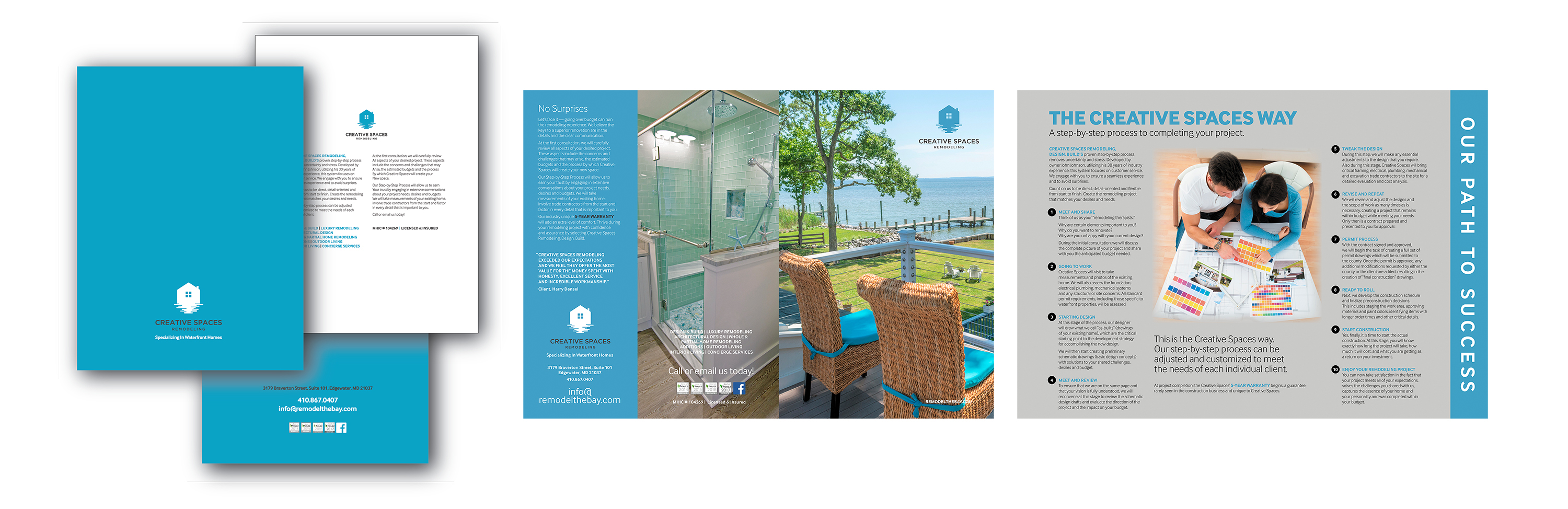 Creative Spaces Folder and Brochure