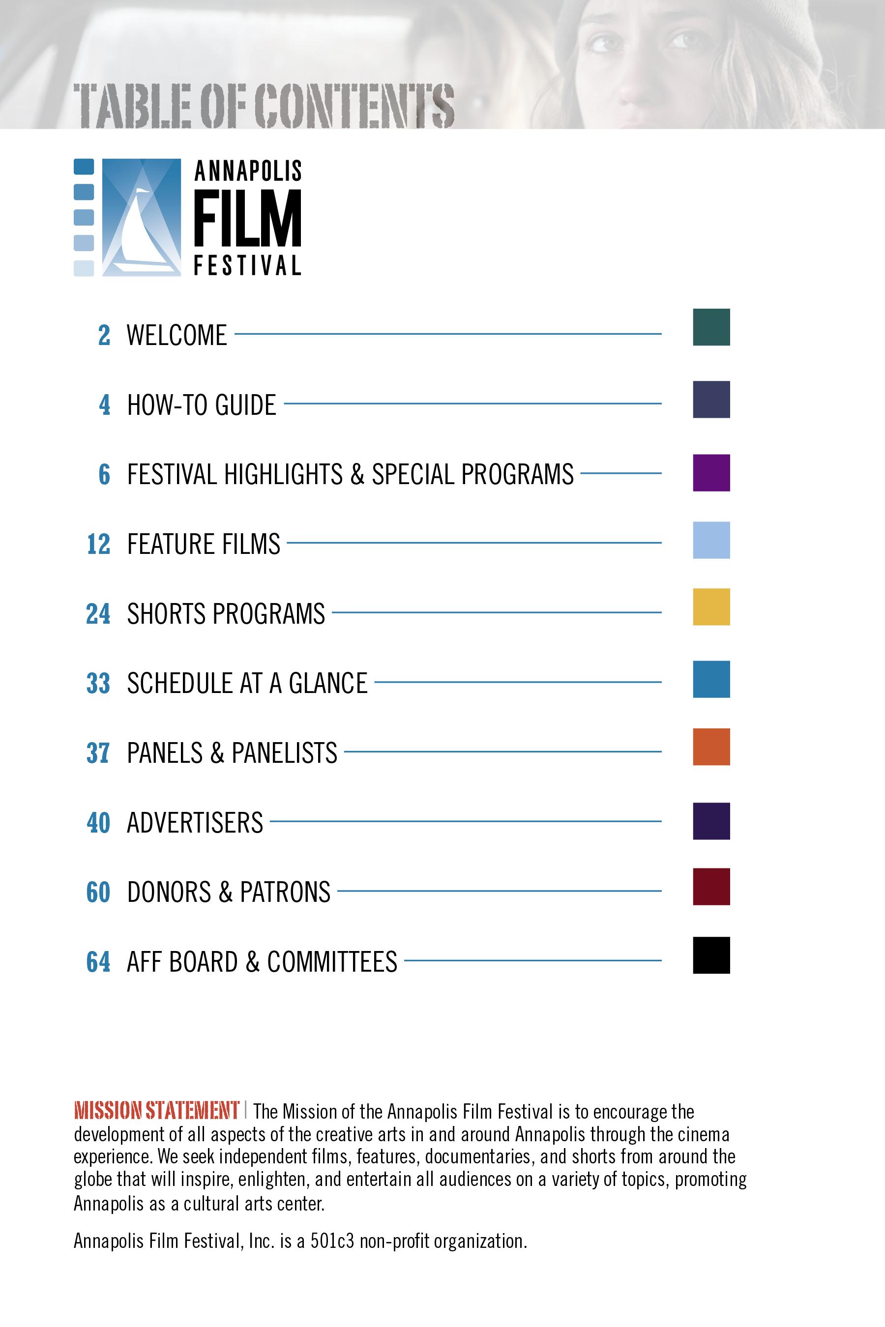 AFF Print Program 17 TOC
