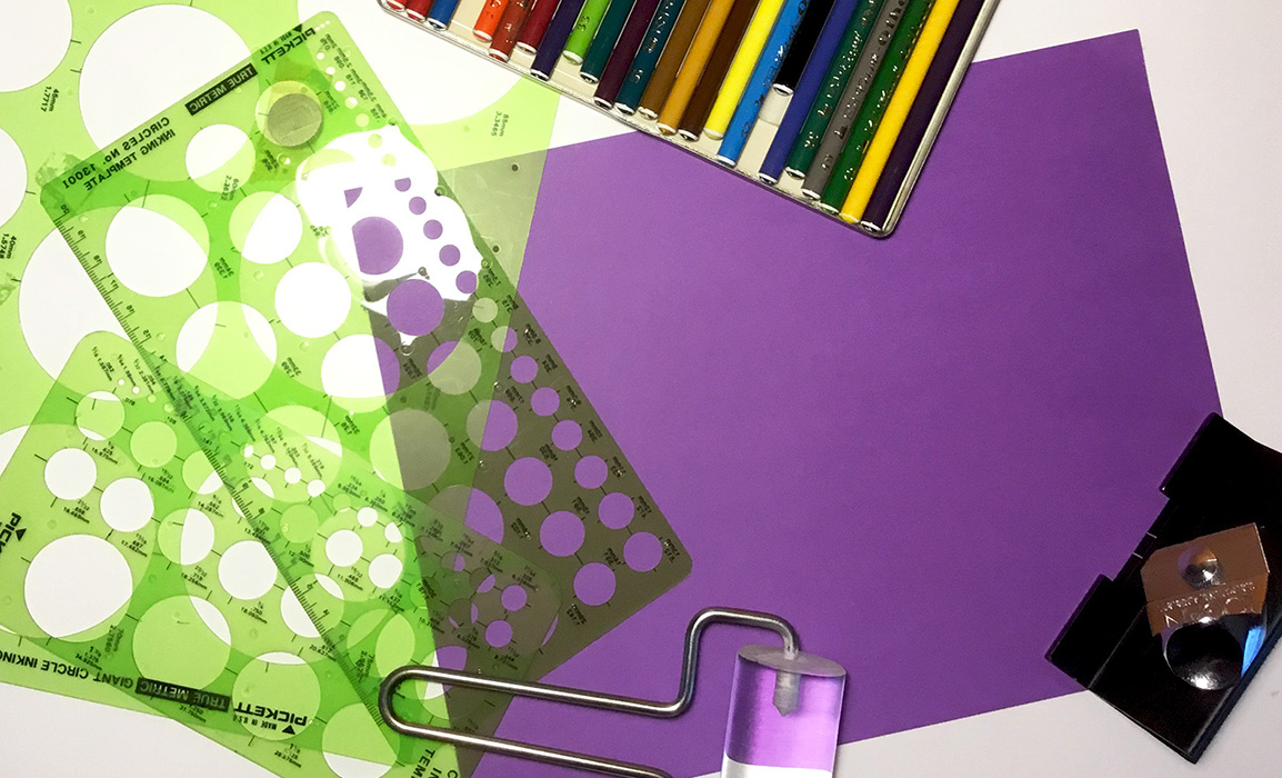 Design Tools With Purple Paper
