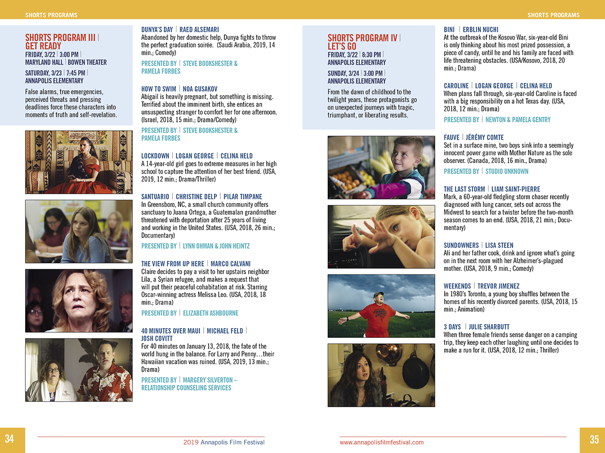 Annapolis Film Festival 19 Print Program