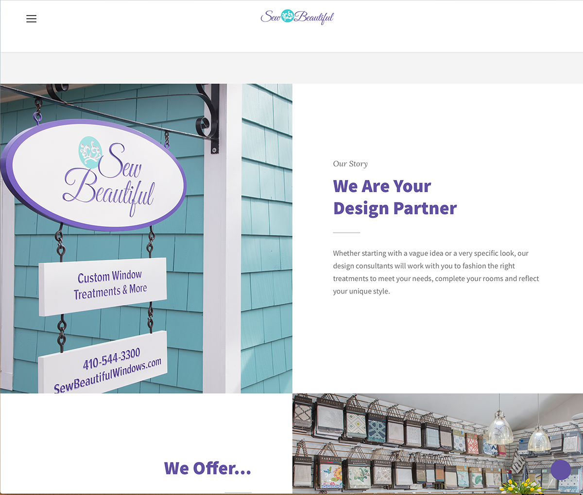 Sew Beautiful Website Work