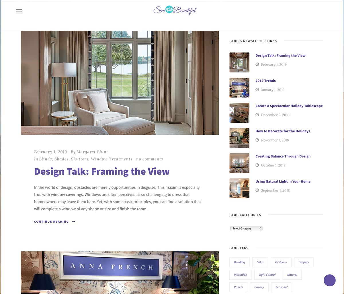 Sew Beautiful Website Blog
