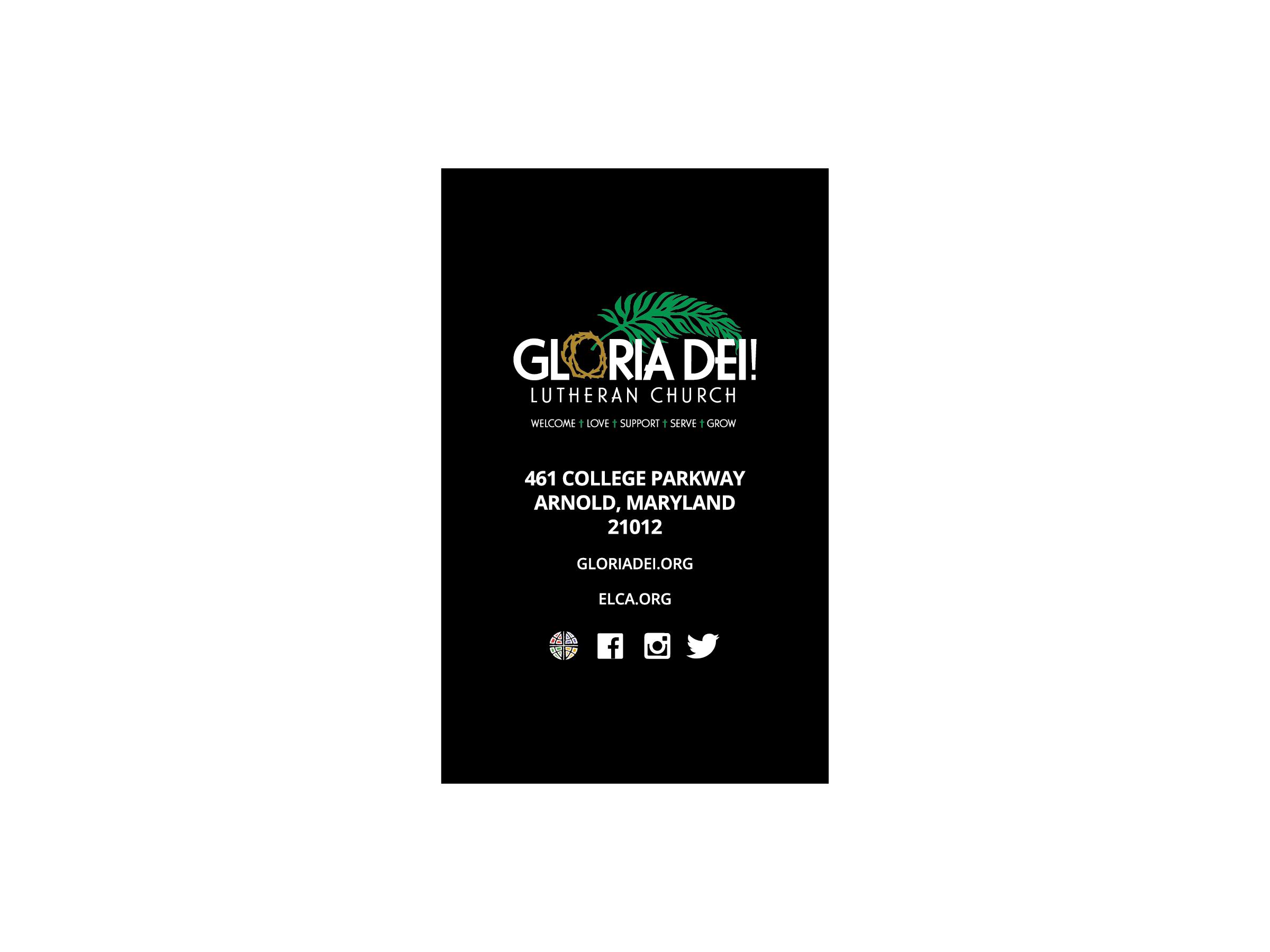 Gloria Dei Business Card Front