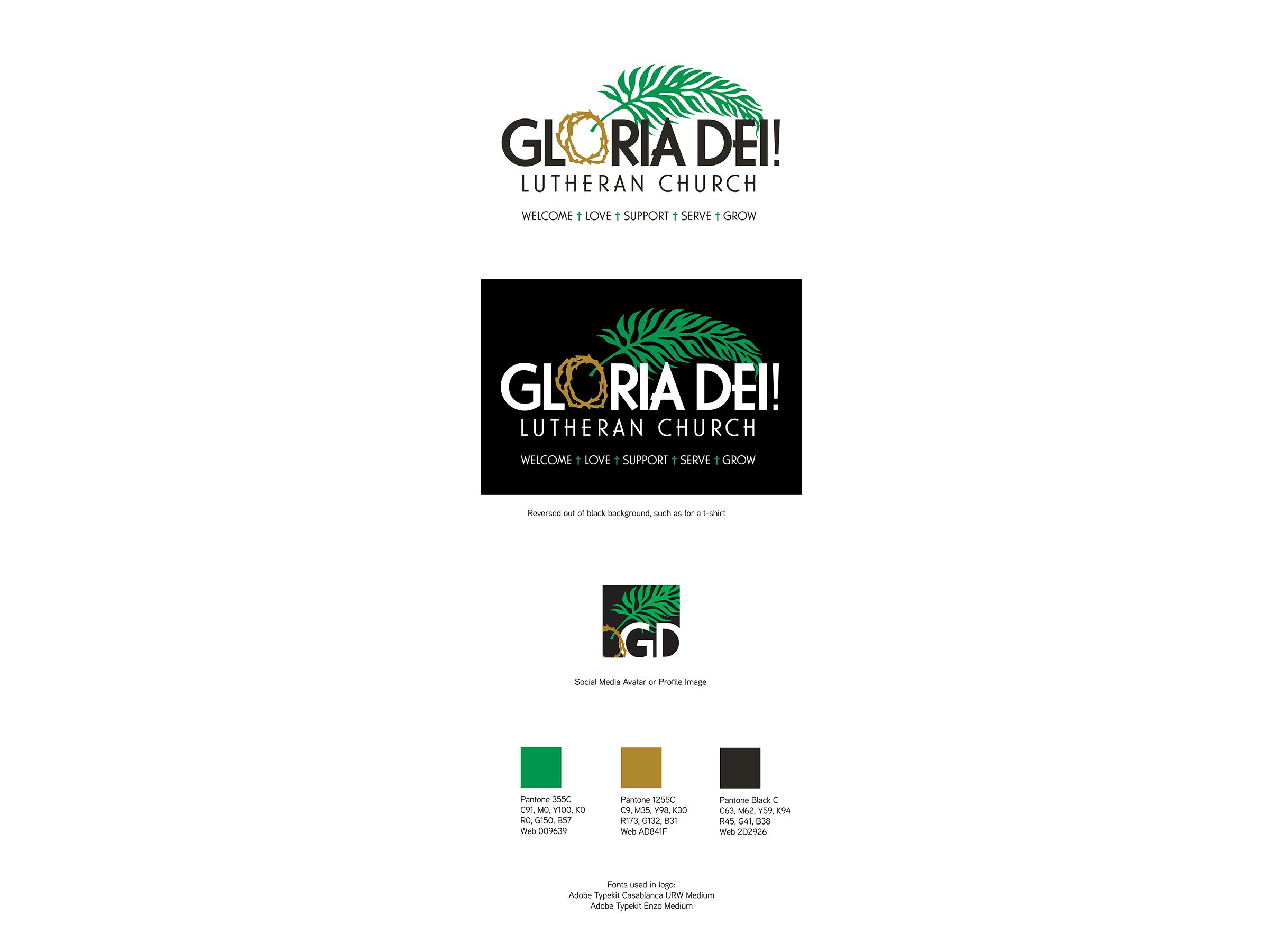 Gloria Dei Branding Specs