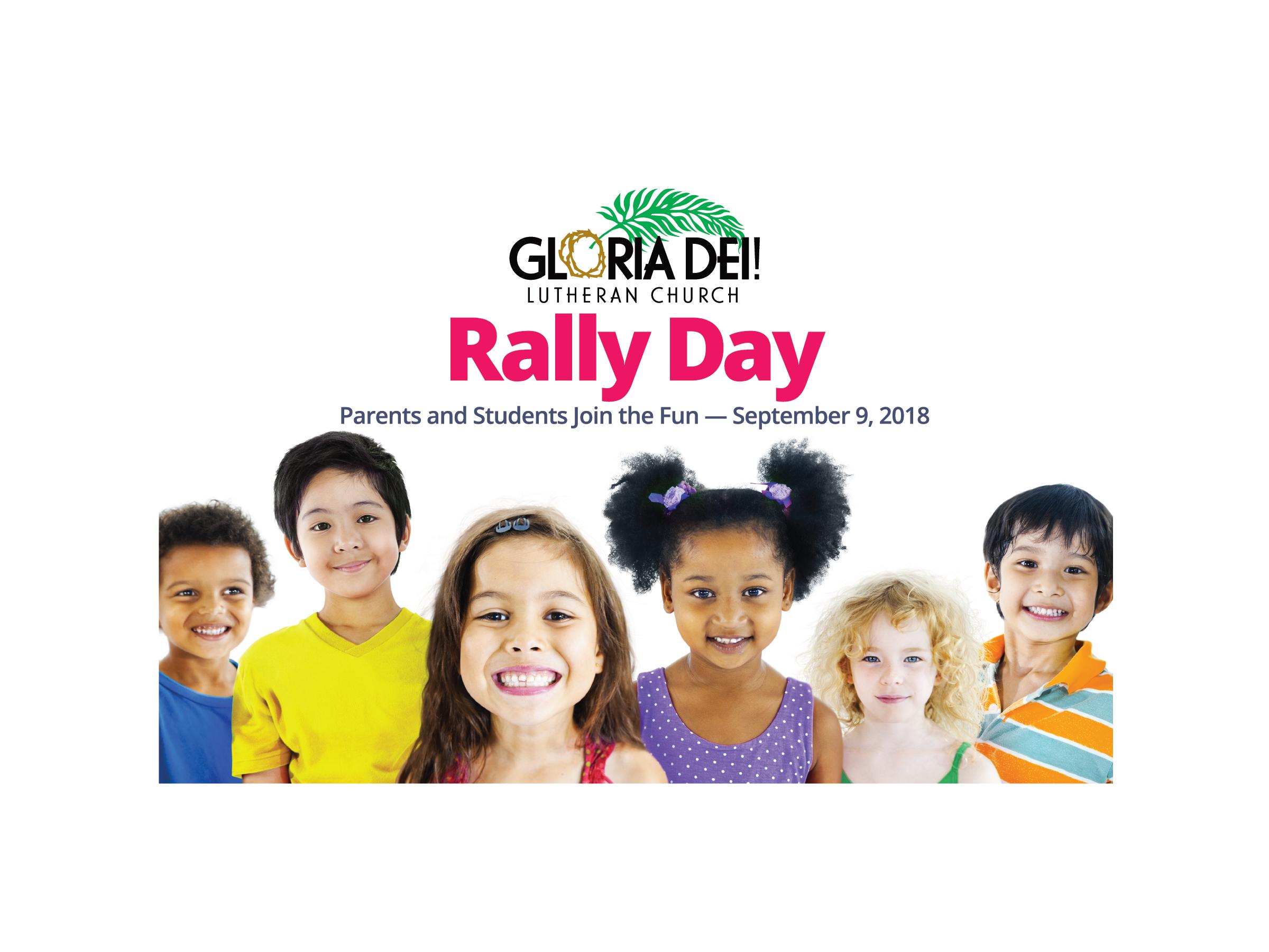 Gloria Dei Rally Day Postcard Front