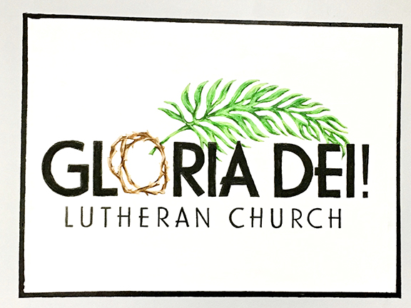 Gloria Dei Wall Mural Full Logo