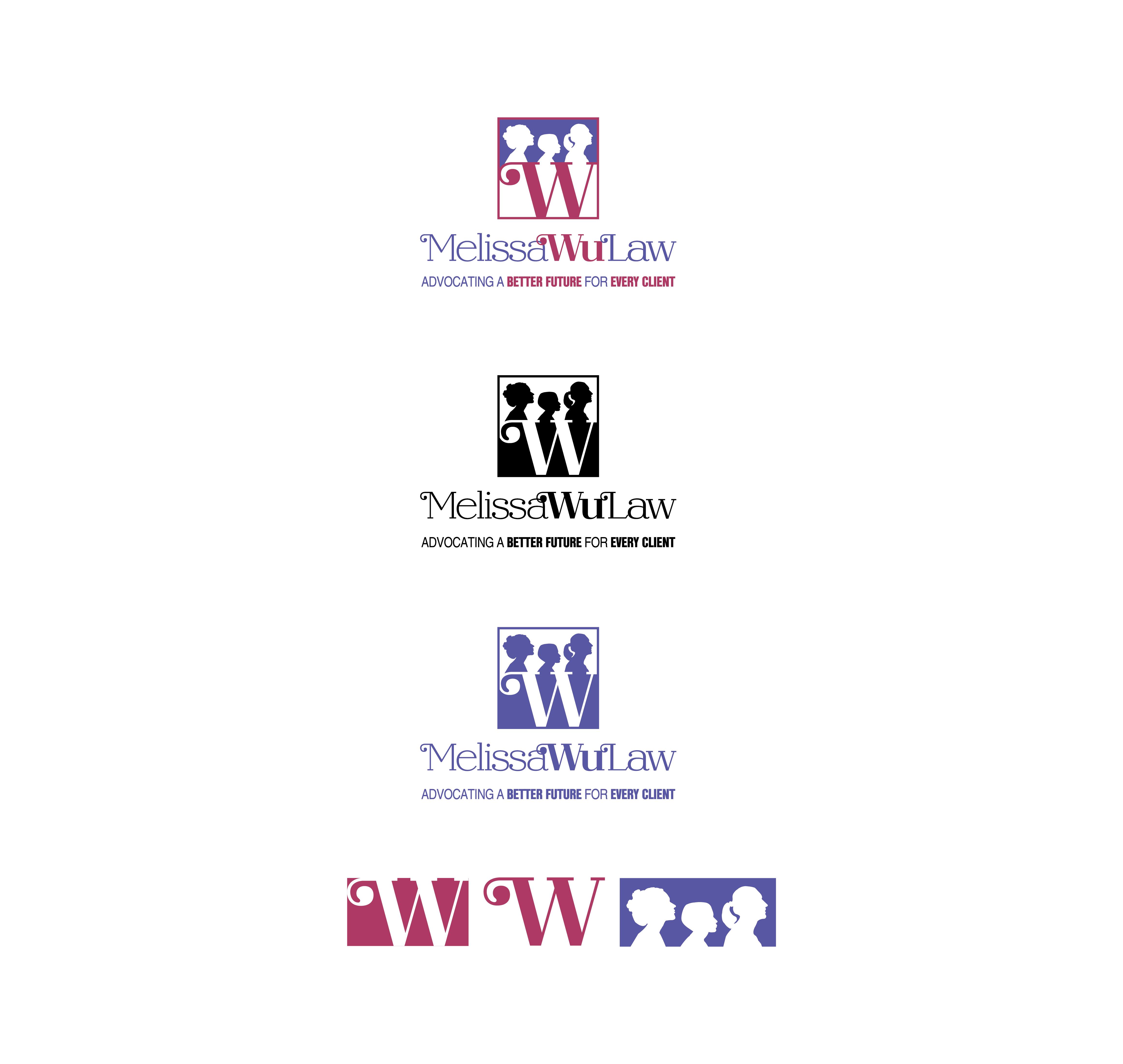Melissa Wu Law Logo Designs