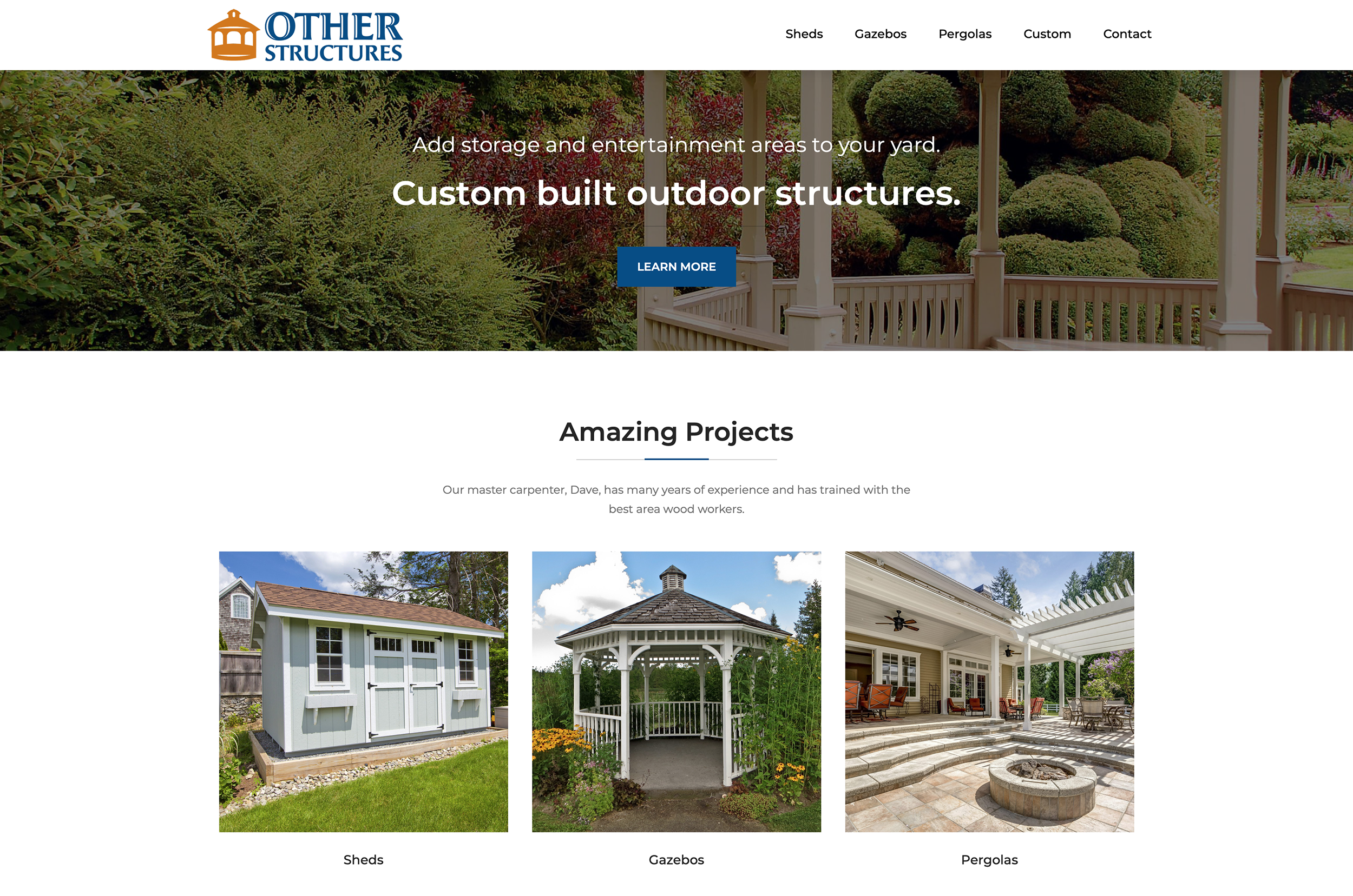 Other Structures Website Home Page