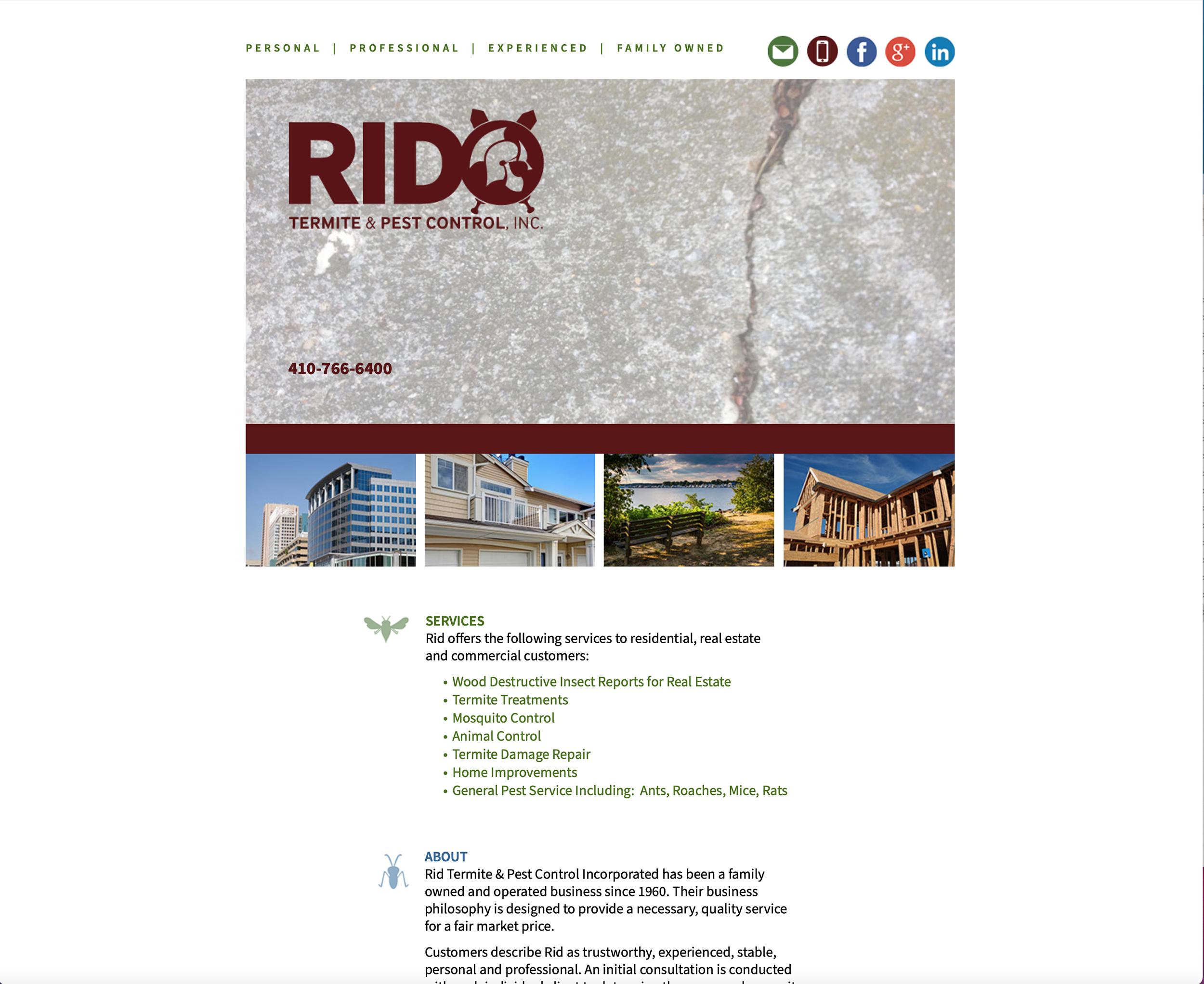 RID Termite & Pest Control Website